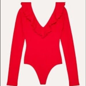 Wilfred Free Danette Bodysuit - Red - Size M